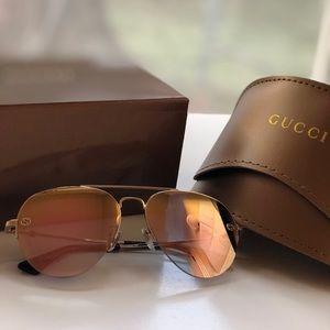 New authentic Gucci mirror sunglasses